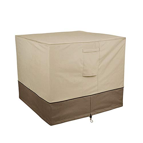 """JD Trading 34"""" Water-Resistant Square Central AC Cover,Air Conditioner Cover,Premium Outdoor Cover Central AC Cover with Durable Fabric for Winter Rain Snow Wind Dust Protection"""