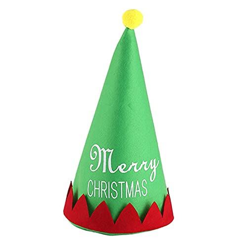 ManxiVoo Funny Christmas Hat - Red and Green Velvet Holiday Novelty Costume Hats with for Adult Kids (Green)
