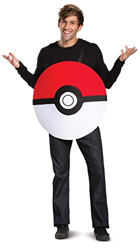 Disguise unisex adults Pokeball Classic Adult Sized Costumes, Red, One Size Adult US