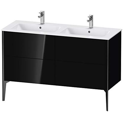Duravit XViu 4485 Waschtischunterbau stehend, 4 Auszüge, für Doppelwaschtisch ME by Starck 233613, 1280x480 mm, Farbe (Front/Korpus): schwarz matt/schwarz Hochglanz