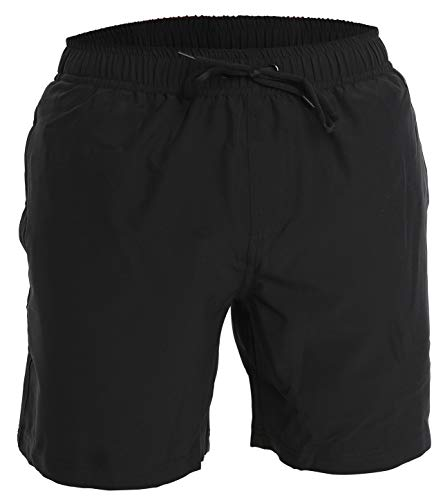 Men's Swim Trunks and Workout Shorts - XL - Black - Perfect Swimsuit or Athletic Shorts for The Beach, Lifting, Running, Surfing, Pool, Gym....