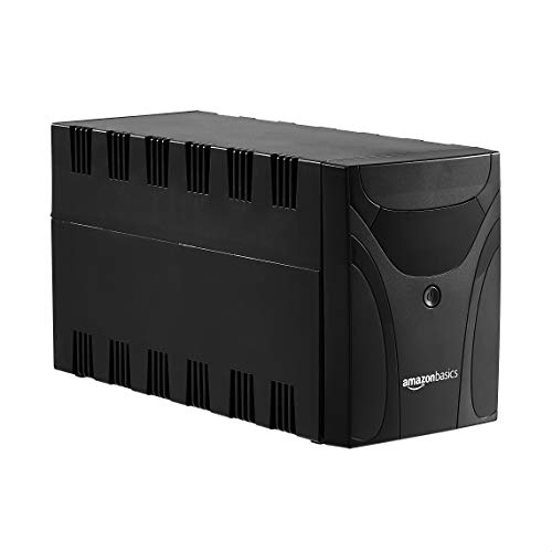 AmazonBasics Uninterruptible Power Supply, 1500VA, 6 IEC Outlets, with Shutdown...