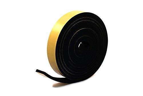 aus Neopren 50 mm breit Schwarz 5 m lang Gummi 3 mm dick