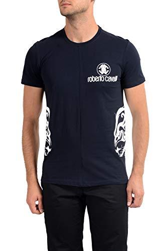 Roberto Cavalli GST653 T-Shirt Maniche Corte Uomo Blu Navy XL