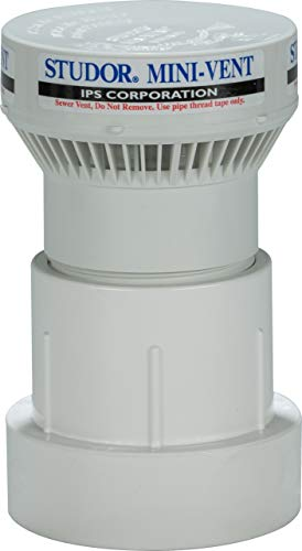 Studor 20341 Mini-Vent Air Admittance Valve with PVC Adapter, 1-1/2- or 2-Inch Connection (Drain Vent Valve)