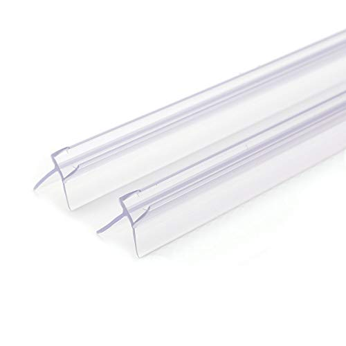2x junta de recambio para ducha Junta de goma de repuesto soporte para cabina 100cm PVC Sello para mampara de baño o Ducha Puerta de vidrio recto o curvado de 4/5/6 mm de espesor Hidrófugo