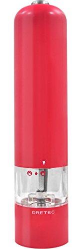 dretec(ドリテック) 電動ペッパーミル 電動式 片手 自動 ライト付 ウェスタ PM-105PK(ピンク)