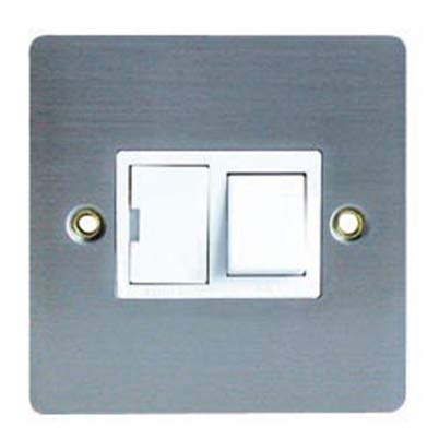 Jegs 8868MFSJE - 13A Switched Fused Spur Flatplate in Stainless Steel by Jegs