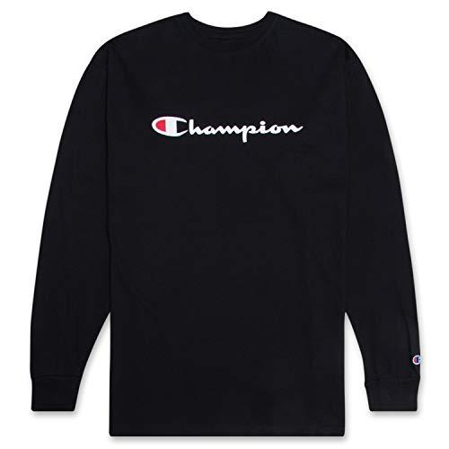 Champion Camiseta clásica de manga larga para hombre - negro - X-Large