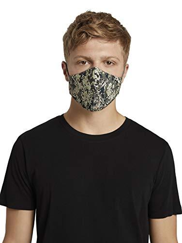 TOM TAILOR Unisex Stoffmaske wiederverwendbar, Camouflage All Over, Einheitsgröße
