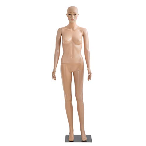 Female Mannequin Full Body Dress Form Sewing Dress Model Mannequin Stand Adjustable Dress Mannequin Clothing Form 69 inch Mannequin Realistic Mannequin Display Head Arm Rotation Metal Base