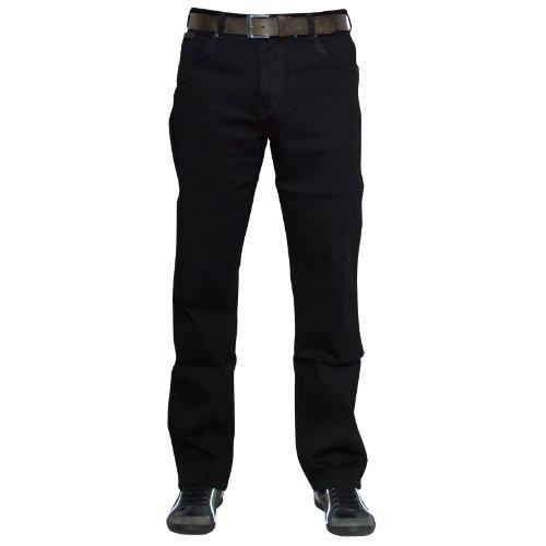 Wrangler Herren Texas Jeans, Tiefschwarz, 33W / 34L