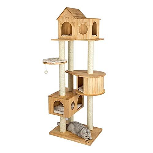 YAMMY Árboles para Gatos Postes para rascar Gatos Torre de Escalada para Gatos Torre para Gatos Castillo...