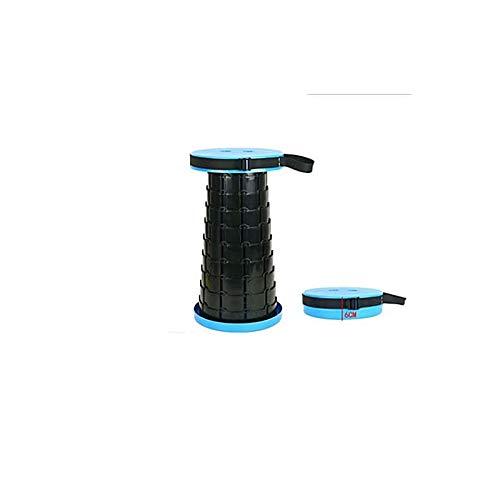 GYSEA Taburete retráctil al Aire Libre Bolsillo Plegable Chiar Portátil Accesorios para Acampar Conveniente Pesca Sillas plásticas Plegables (Color : 03)