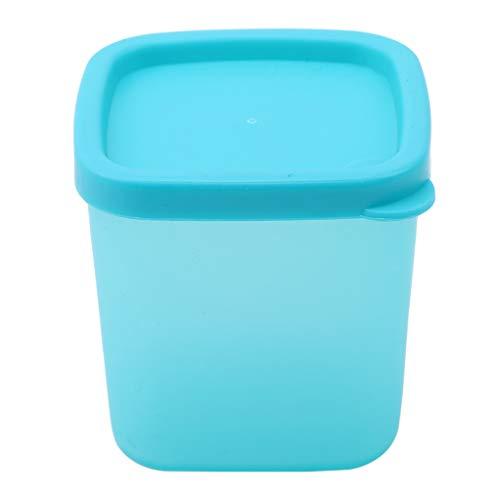 SEVENHOPE Küche Kunststoff Mini Vorratsdosen Und Deckel Gewürz Sauce Gewürz Box Gewürze Pfefferglas Lebensmittel Vorratsbehälter (Blues)