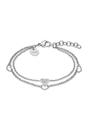 Guido Maria Kretschmer by CHRIST GMK Collection Damen-Armband Edelstahl 19 Zirkonia One Size Silber 32011635