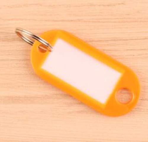 Miner 10Pcs Kunststoff Schlüsselbund Schlüsselanhänger mit geteiltem Ring für Gepäck Schlüsselanhänger Schlüsselringe, orange