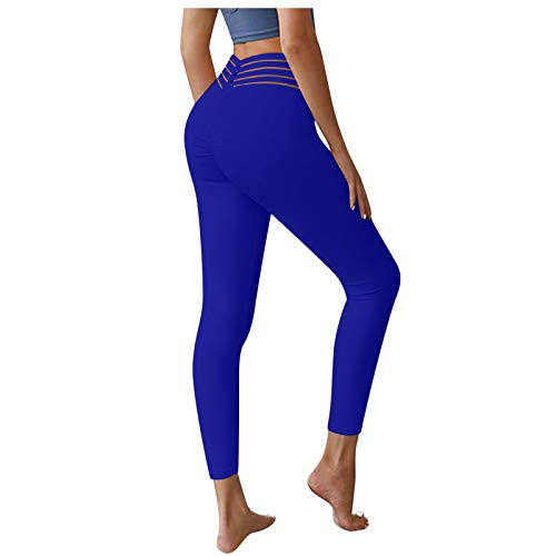 AFFGEQA Frauen Workout Leggings Fitness Sport Laufen Solid Color Yoga Athletic Pants