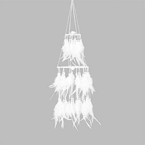 Clarashop hängende Ornamente Traumfänger,Nachtlicht Dream Catcher Kreative Feder Dream Catcher für Schlafzimmer Mobile LED Lichterkette