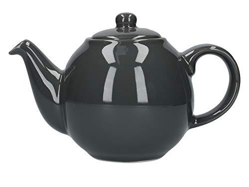 London Pottery Tetera con colador, Globe, cerámica, London Grey, 2 Cup (500 ml)