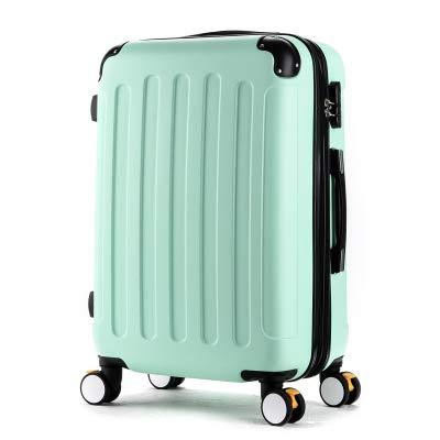 KKSB 20'24 Inch Girl Trolley Case Abs Student Cute Travel Maleta Impermeable Caja de Viaje con Ruedas Embarque extendido 24' Army Green