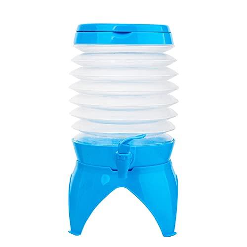 Giplar Contenedor de Tanque de Agua portátil 5.5L Conducción de automóviles Ordenador Personal Contenedor de Cubo de Agua Engrosada con Grifo para Acampar Bolsa de Ducha de Senderismo (Color : 5.5L)