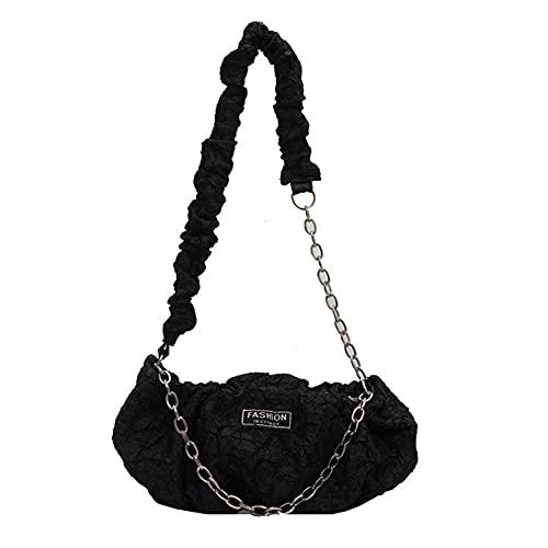 Bolso de hombro con cadena, para mujer, estilo retro, bolso de hombro, bolso de hombro para mujer, bolso de mujer, bolso de compras pequeño, con cadena de aleación para una fiesta, informal