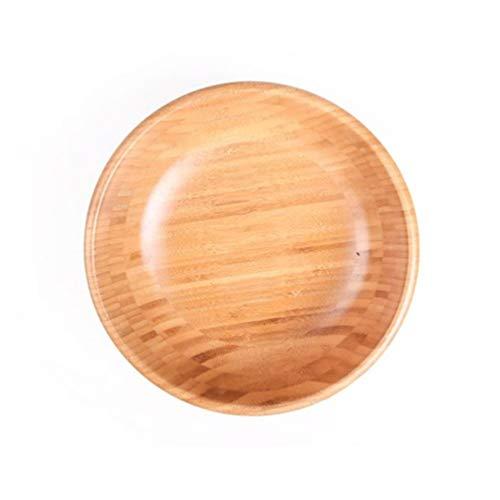 YARNOW Ensaladera de Madera de Bambú 7. 87 X 3. 15 Ensaladeras Redondas para Pastas de Frutas de Cereales Frutas O Ensaladas Tazón Individual (Tamaño Grande)