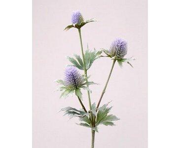 Distel Zweig, mit 3 Blüten, Länge ca. 40cm - künstliche Zweige, Kunstpflanzen, künstliche Pflanzenzweige, Kunstzweige, Dekozweige