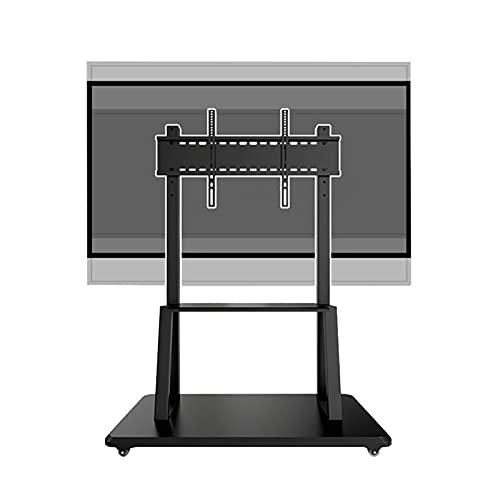 HYDT Mesa Peana para TV Carro de TV de Altura Ajustable para 32-65 Pulgadas, Soporte de TV Universal de Piso Negro con Ruedas, Soporte de Monitor de Metal Resistente