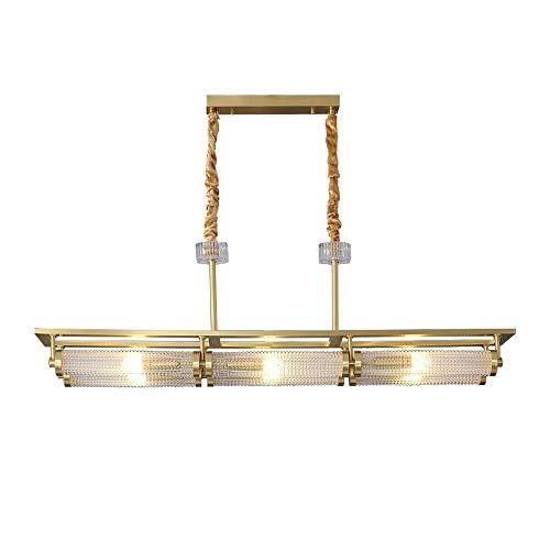 ZSAIMD Posmoderna de la sala de iluminación pendiente, lámpara de latón que cuelgan de 6 luces de cristal de la linterna sala de arte de la decoración de luminarias Accesorios for el dormitorio de lec