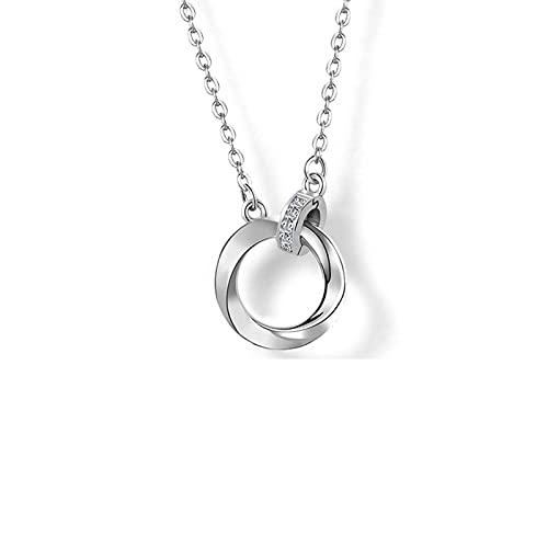 YAZHUANG8 Collar Delicado para Las Mujeres Collares para Mujer Cadenas de Cadenas Collar Femenino Verano Esterlina Plata Cadena de clavícula (Color : B)