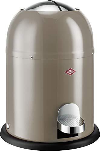 Wesco 180 212 Single Master Abfallsammler 9 Liter warm Grey 30 x 30 x 40 cm (L/B/H), Edelstahl