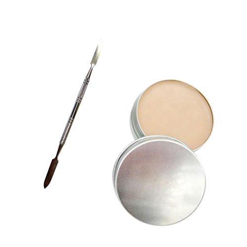 Lurrose Kit de maquillaje profesional de Halloween Efectos especiales Maquillaje de escena Cicatrices de heridas falsas Cera con herramienta de espátula