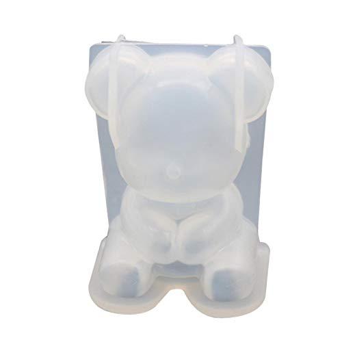 gilivableskr Molde de silicona Moldes de velas transparentes en forma de oso Moldes de resina epoxi hechos a mano para manualidades DIY Decoración de pasteles de fondant Fabricación de velas welcoming