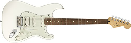 Fender Jugador Stratocaster HSS Guitarra Eléctrica - Pau Ferro Diapasón - Blanco Polar