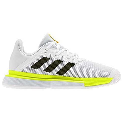 adidas Solematch Bounce W, Chaussures de Tennis pour Femme - Multicolore - Multicolore (Ftwbla Negbás Amasol), 37 1/3 EU EU