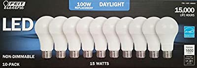 100w LED Replacement Bulbs using 15W Daylight 5000K 1600 Lumens