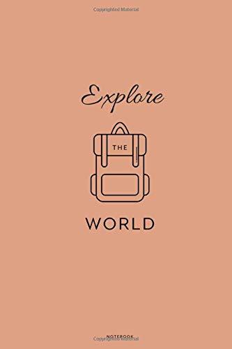 Explore the world Notebook: Liniertes Notizbuch DIN A5 - 110 Seiten   Surfer Welle Reisen Tagebuch Abenteuer Meer Koffer Flugzeug Erinnerung Memories   Geschenk Weihnachten Geburtstag
