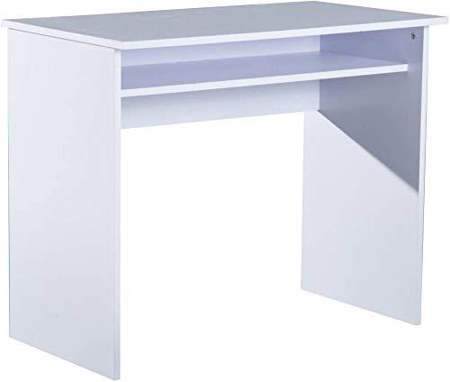 Escritorio Escritorio Mesa para portátil Oficina en casa Estación de Trabajo Centro de Aprendizaje con cajón 90W x 50D (cm) - Blanco