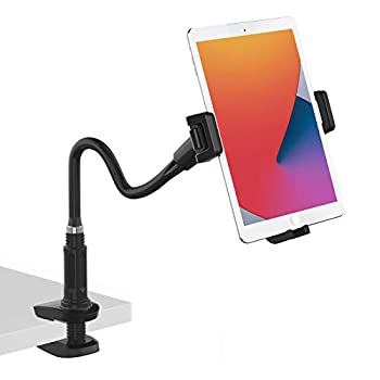 Smatree Tablet & Cell Phone Gooseneck Mount Holder for Desk Flexible arm Clamp Mount Compatible with 4.7-12.9  Tablets iPad Air 10.9 iPhone Gopro Hero 9/8 Camera Nintendo Switch