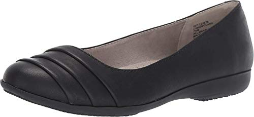 CLIFFS BY WHITE MOUNTAIN Shoes Clara Women's Flat, Black/Burnished/Smooth, 8H W