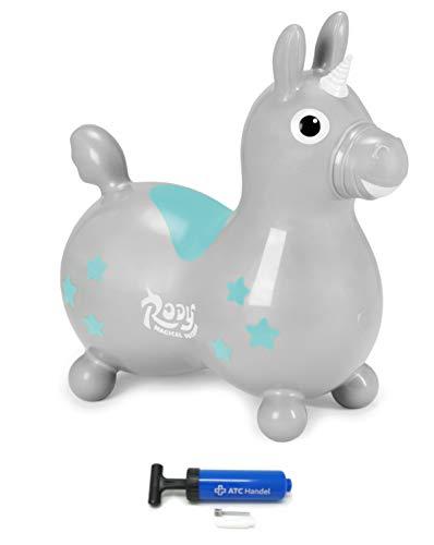 Unicornio Rody + bomba ATC Cavallo Ledraplastic Gymnic (gris)