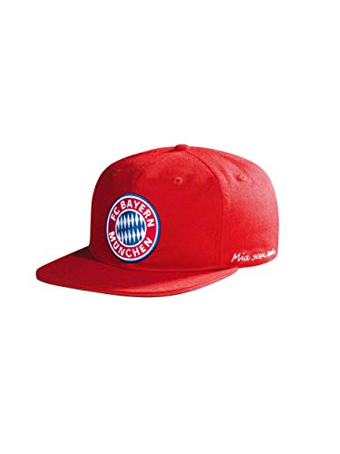 FC Bayern München Snapback Cap Kids Logo rot
