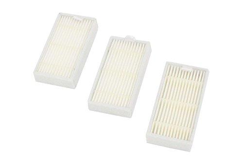 vhbw Ersatz Allergie Hepa Filter Set passend für Saugroboter Ariete Briciola 2711, 2712, 2713, 2717, Ariete Evolution 2.0