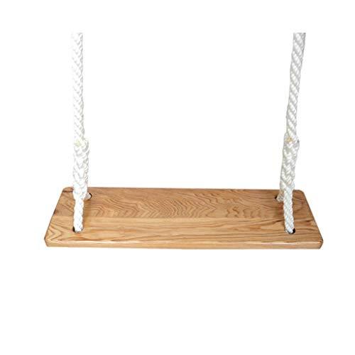 Hamaca de Viaje Columpio de madera de la cuerda de poliéster del adulto adulto al aire libre Oscilación de la esquina lisa del asiento de madera del oscilación de la seguridad Columpio Niños Adultos
