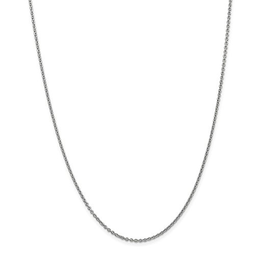 Oro bianco 14K WG 1.80mm cable Chain