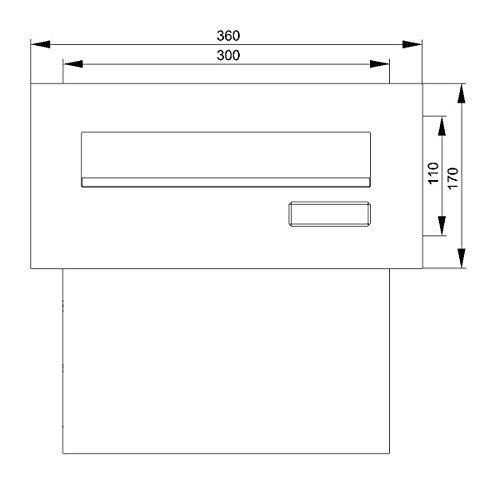 Max Knobloch Mauerdurchwurf-Briefkasten Edelstahl MD10-OR-E (1 x 12 Liter) - 4