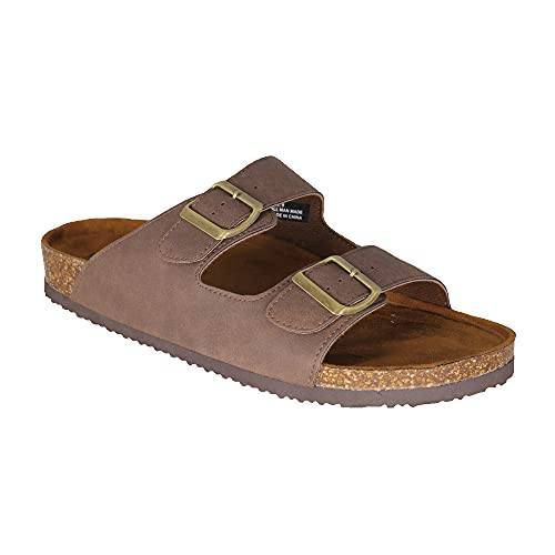 Mens Arizona Sandals Cork Footbed Adjustable 2-Strap Sandal with Support Arch
