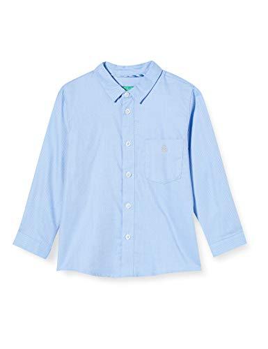 United Colors of Benetton (Z6ERJ) Jungen Camicia Hemd, Bianco 916, XL